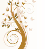 Magic autumn tree with butterflies and s — Vector de stock