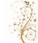 蝶や s の魔法の秋の木 — ストックベクタ