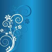 Zimní květinové pozadí — Stock vektor
