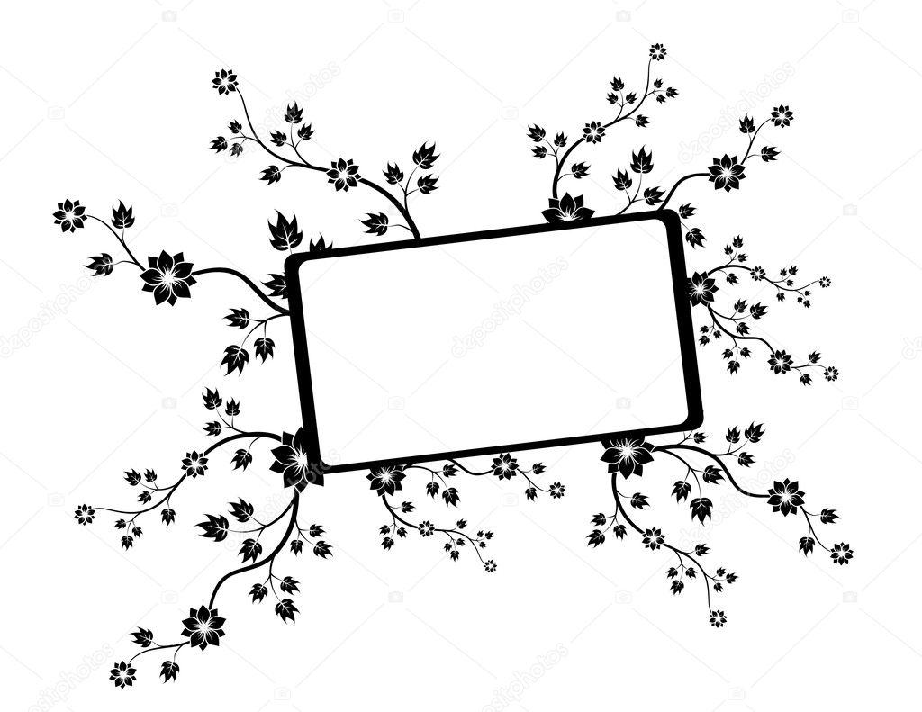 Floral frame — Stock Vector #2000111