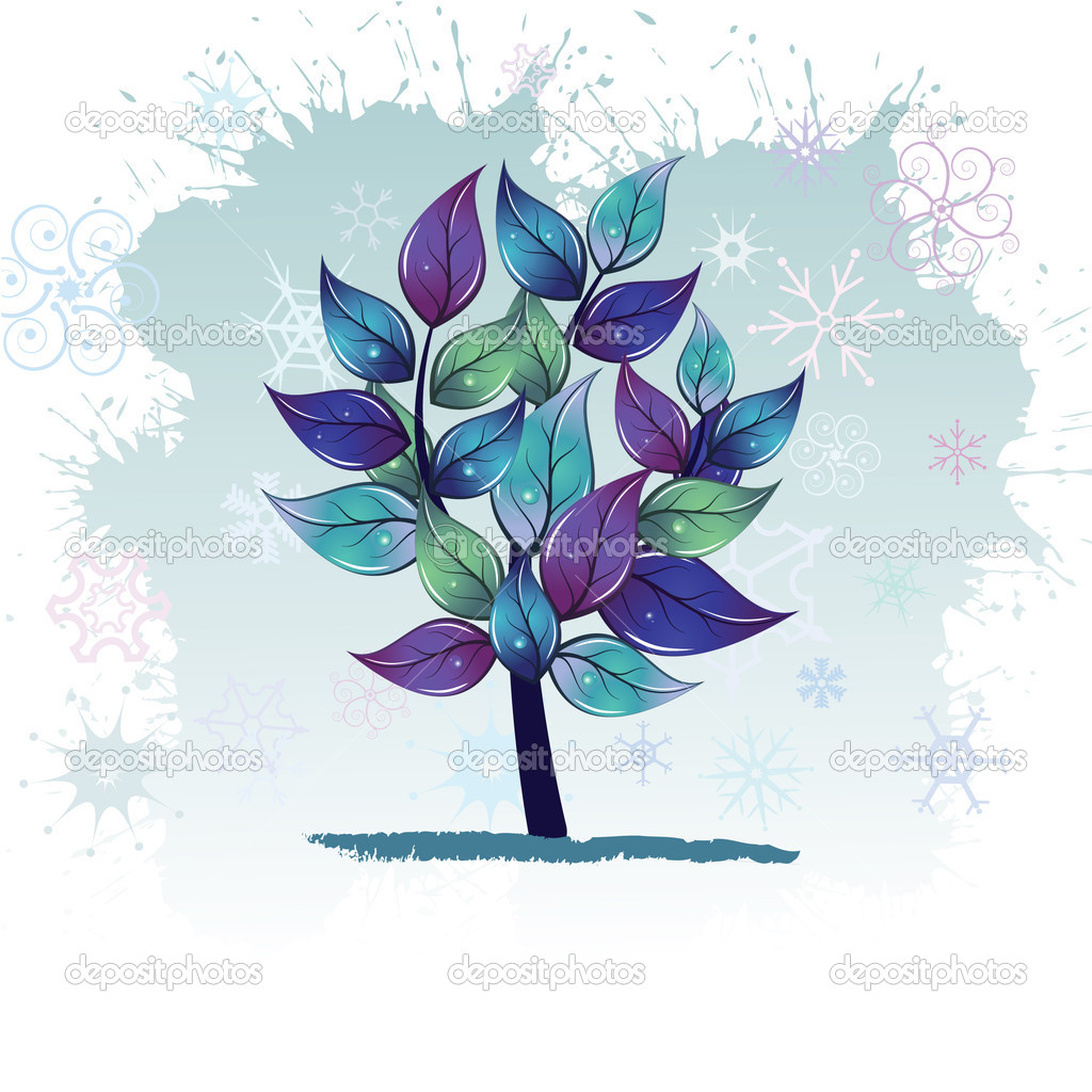 Winter tree — Stock Vector #2001462