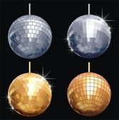 Vector disco-ball set isolated — Stock Vector