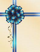 Blue bow — Stock Vector