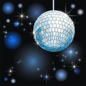 Background with disco-ball and lights — Stock Vector
