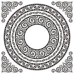 Circle frames — Stock Vector