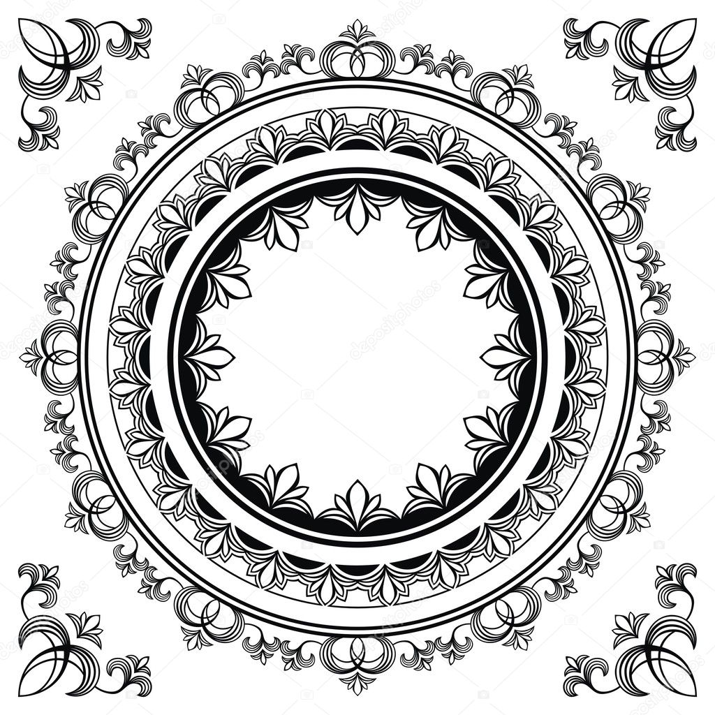 circle frames stock illustration