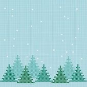 Embroidered winter background — Stock Vector