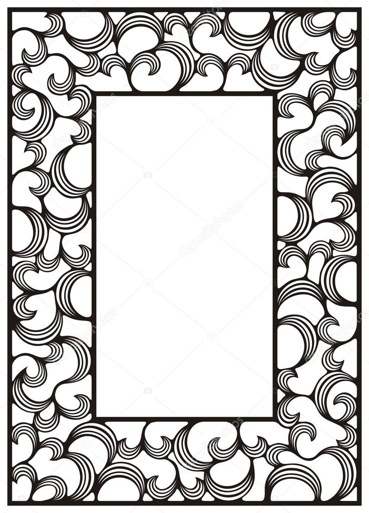 Ornamental frame with curls — Stock Vector #1736993