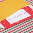 Letter to santa in an envelope — Stock Photo