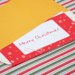 Letter to santa in an envelope — Foto Stock
