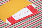 Brief aan de kerstman in een envelop — Stockfoto
