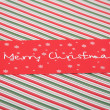 Red Christmas card — Foto de Stock