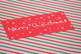 červená vánoční přání — Stock fotografie
