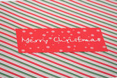Red Christmas card — Stockfoto