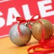 Stock Photo: Sale of Christmas spheres
