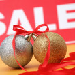 Sale of Christmas spheres — Stock Photo