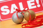 продажа рождество сферах — Стоковое фото