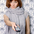 Girl remote — Stockfoto