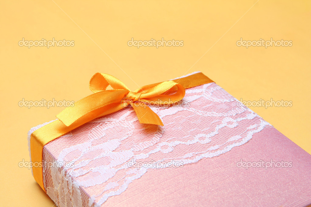 Gift for you - gift wrapped and ribbon bow — Stock Photo #1793029