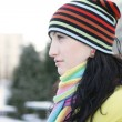Woman in Snow — Stock Photo