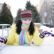 Stock Photo: Cheerful girl in winter