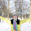 Stock Photo: Happy girl in winter
