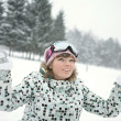Happy girl in winter — Stock Photo