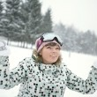 Happy girl in winter — Stock Photo #2037849