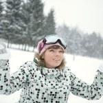 Happy girl in winter — Stock Photo