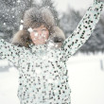Snow on the palms — Stock Photo