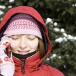 Winter girl on the phone — Stock Photo #2169502