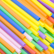 Colorful cocktail straws — Stock Photo