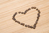 Coffee Heart — 图库照片