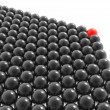 Red leader of balls group — Stock Photo #1547465