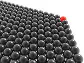 красный лидер группы шаров — Стоковое фото