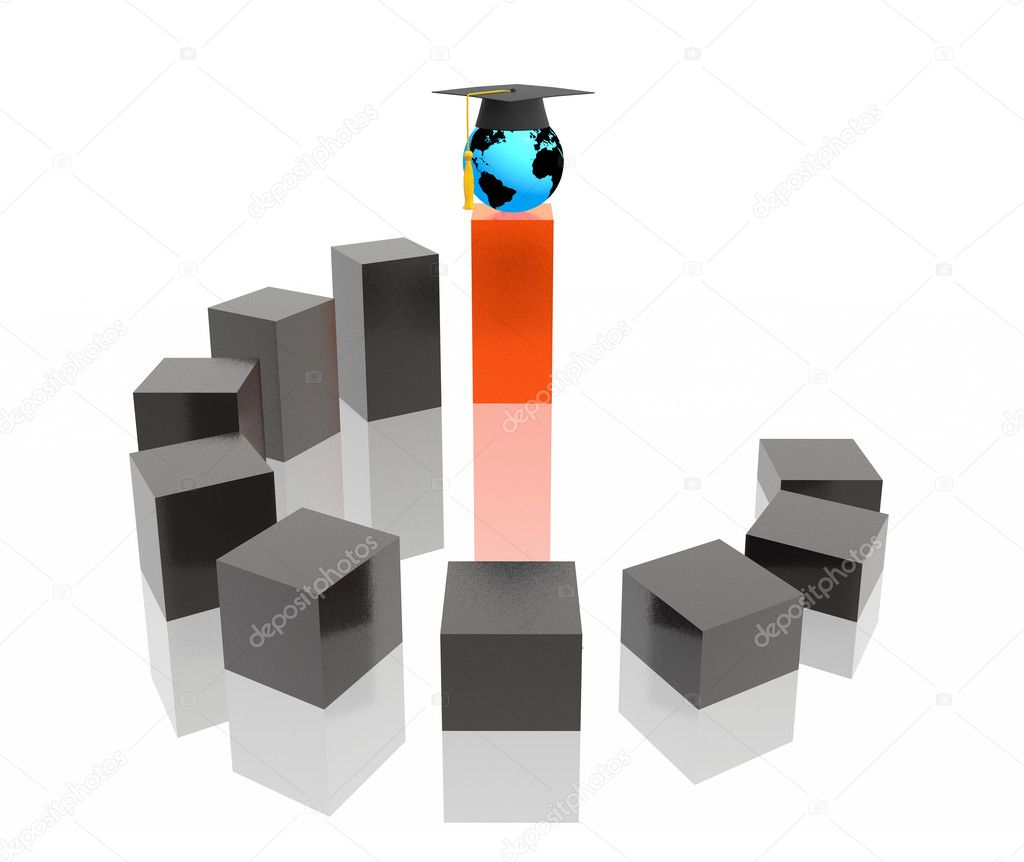 Education stairway (hi res 3d image) — Stock Photo #1547388