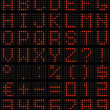 Dot-matrix font — Stock Photo