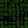 Stockfoto: Dot-matrix font