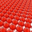 Stockfoto: Red christmas balls