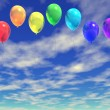Rainbow ballons — Stock Photo