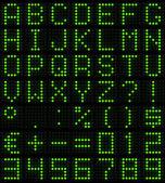 матричный шрифт — Стоковое фото