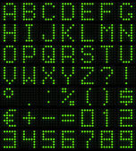 Dot-matrix lettertype — Stockfoto
