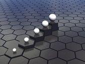 Hexagons background — Stock Photo