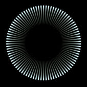 Blue light circle — Foto Stock