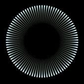 Círculo de luz azul — Foto Stock