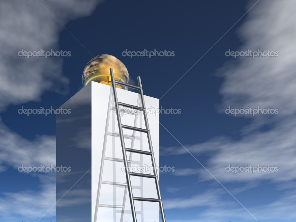 Ladder to success (3d image)  Stock Photo #1586021