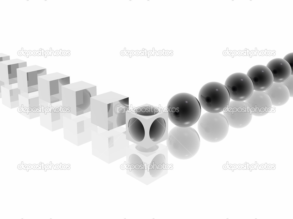 Black-white morphing (see more in my portfolio) — Stock Photo #1586087