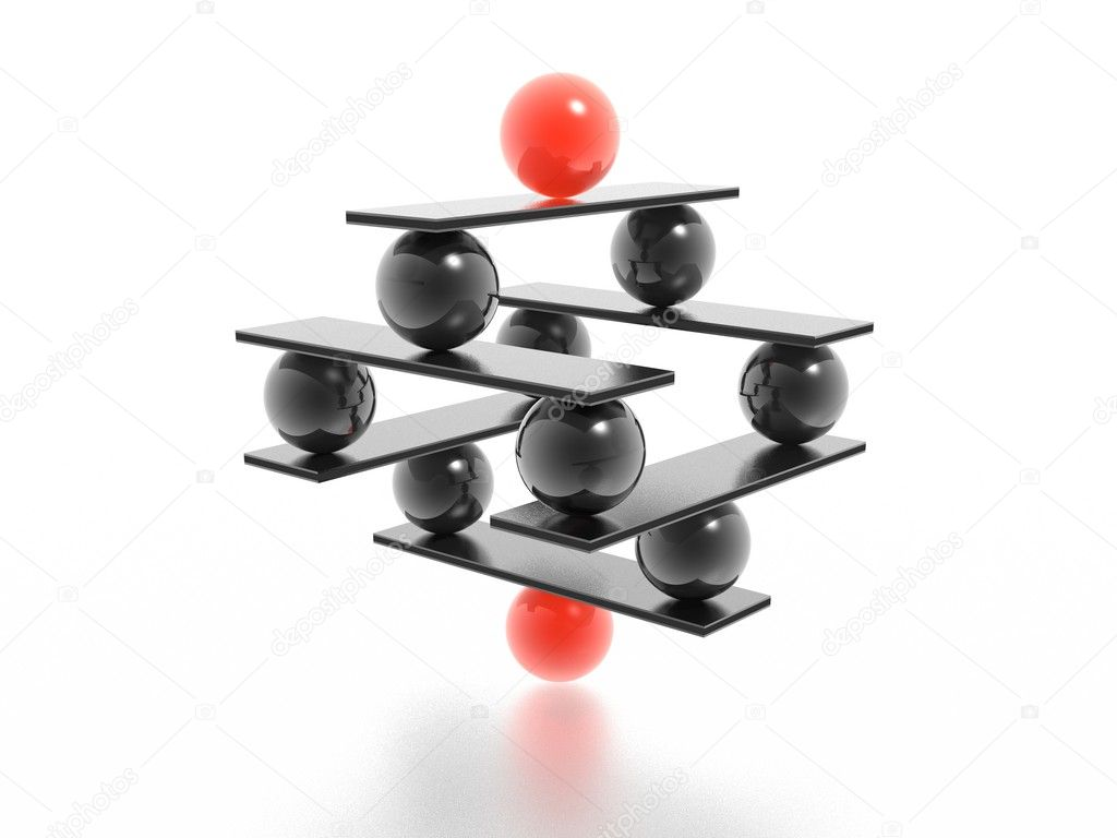 Balance (high resolution 3D image) — Stock Photo #1586418