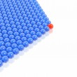 Red leader of balls group — Stock Photo
