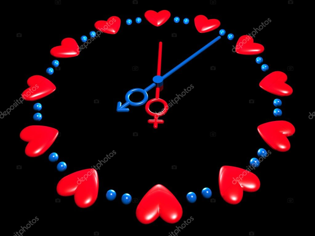 3D valentines watch — Stock Photo #1594731